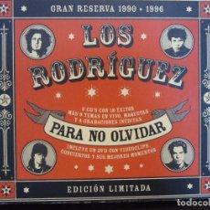 CDs de Música: LOS RODRIGUEZ - PARA NO OLVIDAR - 2 X CD + DVD - 2002 - ED.LIMITADA - EX+/NM+. Lote 96995251