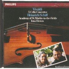 CDs de Música: ACADEMY OF ST.MARTIN IN THE FIELDS. IONA BROWN. VIVALDI 5 CELLO CONCERTOS HEINRICH SCHIFF.. Lote 97112071