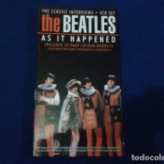 CDs de Música: THE BEATLES AS IT HAPPENED - THE CLASSIC INTERVIEWS 4 CD SET + 32 PAGINAS COLOR - CIS 2001. Lote 97246191
