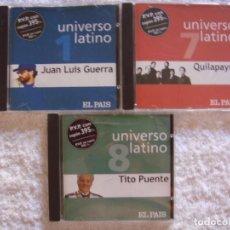 CDs de Música: CD - UNIVERSO LATINO - VOLUMEN 1, 7 Y 8 - JUAN LUIS GUERRA, QUILAPAYUN Y TITO PUENTE. Lote 97280579