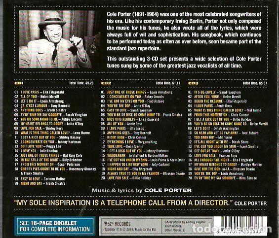 CDs de Música: CD TRIPLE JAZZ VOCALISTS SINGS COLE PORTER ( FRANK SINATRA, LOUIS ARMSTRONG, BILLIE HOLIDAY, ETC - Foto 2 - 97294275