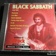 CDs de Música: BLACK SABBATH LIVE 1970. IL DIZIONARIO DEL ROCK (CDI9). Lote 97333683