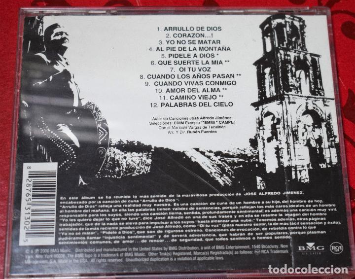 CDs de Música: MUSICA GOYO - CD ALBUM - JOSE ALFREDO JIMENEZ - ARRULLO DE DIOS - RARISIMO - *UU99 - Foto 2 - 97356603