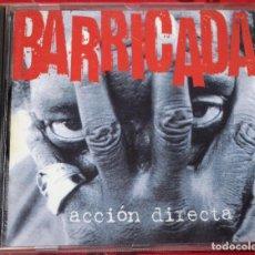 CDs de Música: MUSICA GOYO - CD ALBUM - BARRICADA - ACCION DIRECTA - RARO - *AA98. Lote 97389475
