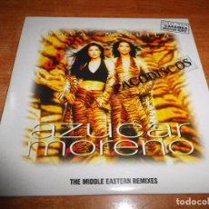 CDs de Música: AZUCAR MORENO HAVA - NAGUILA REMIXES CD SINGLE PROMOCIONAL CARTON 1997 8 TEMAS MIGUEL GALLARDO. Lote 140529700