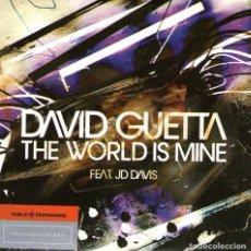 CDs de Música: DAVID GUETTA FEAT JD DAVIS - THE WORLD IS MINE - CD PROMO FUNDA DE CARTÓN, 1 TRACK - VIRGIN/EMI 2004. Lote 97430063