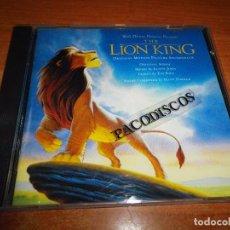 CDs de Música: THE LION KING BANDA SONORA CD ALBUM 1994 ESPAÑA HANS ZIMMER ELTON JOHN TIM RICE CONTIENE 12 TEMAS. Lote 130528962