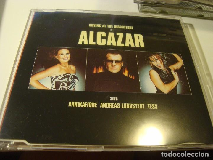 RAR MAXI CD. ALCAZAR. CRYING AT THE DISCOTEQUE. ANNIKAFIORE. MADE IN SPAIN (Música - CD's Disco y Dance)