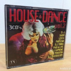 CDs de Música: TRIPLE CD - HOUSE & DANCE VOL. 2. BOY RECORDS, 1998. Lote 97502003