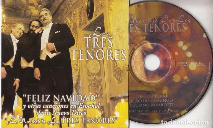 Placido Domingo Feliz Navidad.Los Tres Tenores Cantan Villancicos En Espanol Cd Single Con 3 Temas Solo Promocional