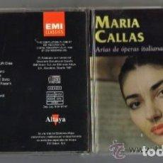 CDs de Música: CD - MARIA CALLAS - ARIAS DE OPERAS ITALIANAS . Lote 97692463