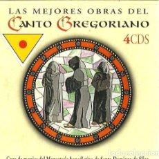 CDs de Música: LAS MEJORES OBRAS DEL CANTO GREGORIANO (CAJA CON 4 CD´S) MONJES SANTO DOMINGO DE SILOS . Lote 97812563