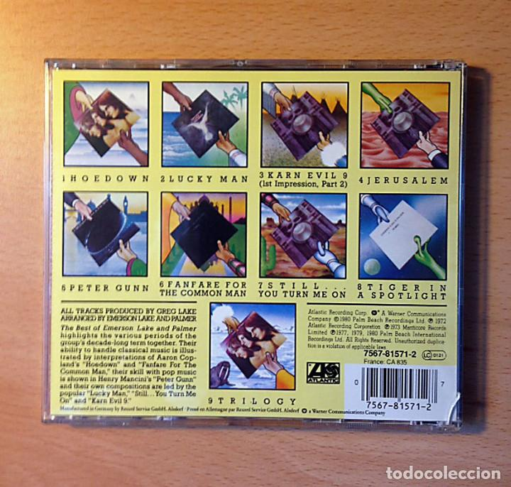 CDs de Música: CD - EMERSON LAKE & PALMER - THE BEST OF - ATLANTIC - Foto 2 - 97989111