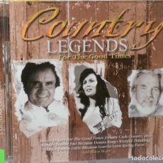 CDs de Música: COUNTRY LEGENDS - FOR THE GOOD TIMES. Lote 98099168