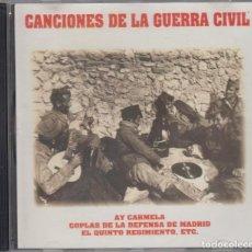 CDs de Música: CANCIONES DE LA GUERRA CIVIL CD 1996 AY CARMELA EUZKO GUDARIAK LA PLAZA DE TETUÁN. Lote 98166991