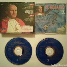 CDs de Música: CD DOBLE ORIGINAL - EL ROSARIO - RELIGION - PAPA SAN PABLO 2. Lote 98174291