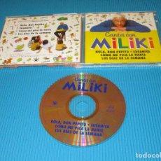 CDs de Música: CANTA CON MILIKI - CD - RBA - HOLA DON PEPITO - SUSANITA - COMO ME PICA LA NARIZ .... Lote 98193079