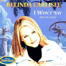 CDs de Música: BELINDA CARLISLE / I WON'T SAY (2 VERSIONES) (BSO HERCULES) CD SINGLE CAJA 1997. Lote 98341147