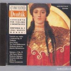 CDs de Música: DVORAK - CONCERTO PER VIOLINO OP.53 / SINFONIA N.9 OP.95, ARMANDO CURCIO EDITORE (CD 1989). Lote 98362387
