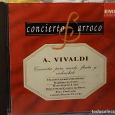 CDs de Música: A. VIVALDI CONCIERTOS PARA CUERDA, FLAUTA Y VIOLENCHELO. Lote 98381835