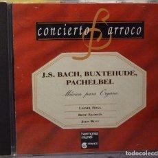 CDs de Música: J.S.BACH - BUXTEHUDE NPACHELBEL - MÚSICA PARA ÓRGANO. Lote 98382183