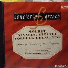 CDs de Música: MOURET, VIVALDI, STÖLZEL, TORELLI, DELALANDE. Lote 98382415