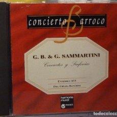 CDs de Música: G.B. & G. SAMMARTINI - CONCIERTOS Y SINFONÍAS. Lote 98382567