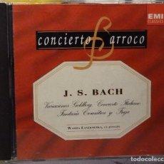 CDs de Música: J.S.BACH - VARIACIONES GOLDBERG, CONCIERTO ITALIANO, FANTASÍA CROMÁTICA Y FUGA. Lote 98382991