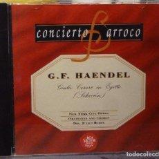 CDs de Música: G.F. HAENDEL - GIULIO CESARE IN EGILLO (SELECCIÓN). Lote 98383155