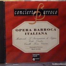 CDs de Música: OPERA BARROCA ITALIZANA. Lote 98383519