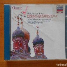 CDs de Música: CD RACHMANINOV: PIANO CONCERTO NO. 2 - PAGANINI VARIATIONS - ASHKENAZY - PREVIN (3K). Lote 98387723