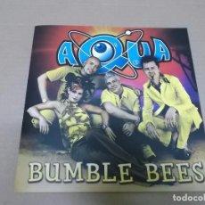 CDs de Música: AQUA (CD/SINGLE) BUMBLE BEES +1 TRACK AÑO 2000 – PROMOCIONAL – PORTADA ABIERTA. Lote 98393043