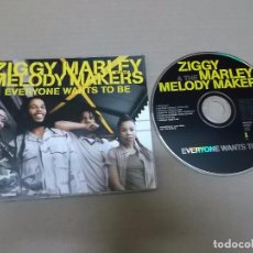 CDs de Música: ZIGGY MARLEY & THE MELODY MAKERS (CD/SINGLE) EVERYONE WANTS TO BE +6 TRACKS AÑO 1997 - PROMOCIONAL. Lote 98394167
