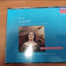CD de Música: DELIBES LAKME. Lote 98427643