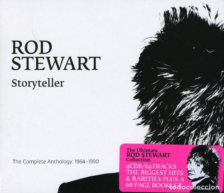 ROD STEWART * 4CD BOX * STORYTELLER: THE COMPLETE ANTHOLOGY 1964-1990 * PRECINTADO (Música - CD's Rock)