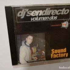 CDs de Música: CD - DJ´S EN DIRECTO - SOUND FACTORY - DAVID CABEZA. Lote 98553235