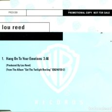 CDs de Música: LOU REED / HANG ON TO YOU REMOTIONS (CD SINGLE CAJA PROMOM1996). Lote 98631003