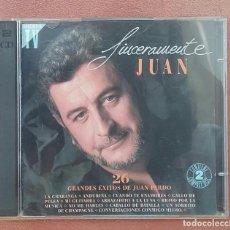 CDs de Música: SINCERAMENTE JUAN GRANDES ÉXITOS DE JUAN PARDO 1992. Lote 98671407