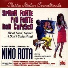 CDs de Música: SPARA FORTE, PIU FORTE, NON CAPISCO / NINO ROTA CD BSO. Lote 98725123
