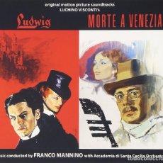 CDs de Música: LUDWIG + MORTE A VENEZIA / FRANCO MANNINO 2CD BSO. Lote 98726823