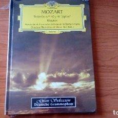 CDs de Música: LIBRO CON 2 CDS - MOZART - SINFONÍAS 40 Y 41 JUPITER, REQUIEM. Lote 98759827