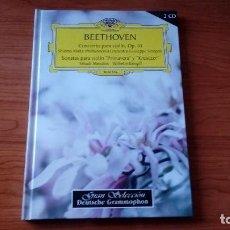 CDs de Música: LIBRO CON 2 CDS - BEETHOVEN - CONCIERTO PARA VIOLÍN OP 61. SONATAS PARA VIOLÍN PRIMAVERA Y KREUTZER. Lote 98759923