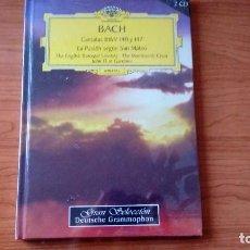 CDs de Música: LIBRO CON 2 CDS - BACH - CANTATAS BWV 140 Y 147, LA PASIÓN SEGÚN SAN MATEO. Lote 98759995