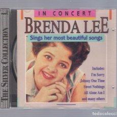 CDs de Música: BRENDA LEE - SING HER MOST BEAUTIFUL SONGS (CD 1990, WOODFORD MUSIC WMCD 5570). Lote 98765387