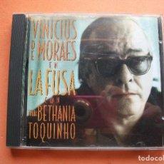 CDs de Música: VINICIUS DE MORAES EN LA FUSA - CON MARIA CREUZA, MARIA BETHANIA Y TOQUINHO CD ALBUM PEPETO. Lote 98880971