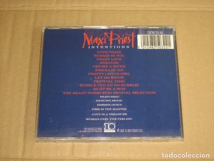 CDs de Música: MAXI PRIEST - INTENTIONS (DIXCD 32) - CD - Foto 2 - 98936939