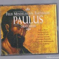 CDs de Música: FELIX MENDELSSOHN-BARTHOLDY - PAULUS ORATORIUM (2CD BRILLANT CLASSICS 99175). Lote 99172547