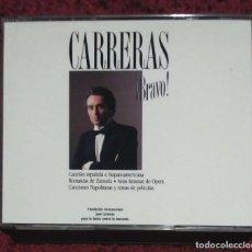 CDs de Música: JOSE CARRERAS (¡BRAVO! - SELECCION PERSONAL) 2 CD'S 1988 * MUY DIFICIL CONSEGUIR EN CD. Lote 99189579