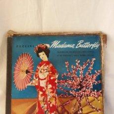 CDs de Música: MADAME BUTTERFLY - ANTIGUO ALBUM AÑO 1953 DE PIZARRA. COLECCIÓN. DISCOS MB Y SOBRES MB TAPA REGULAR. Lote 99240115
