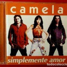 CDs de Música: CAMELA (CD 2000) SIMPLEMENTE AMOR - CD HISPAVOX AÑO 2000. Lote 135785133